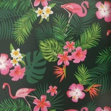 tafelzeil tropical flamingo