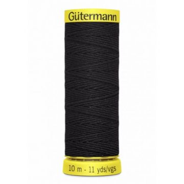 Gütermann Elastiek Garen-4017 - Black