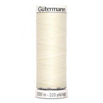 Gütermann 200 meter naaigaren - creme