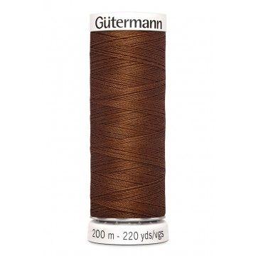 Gütermann 200 meter naaigaren - helder bruin