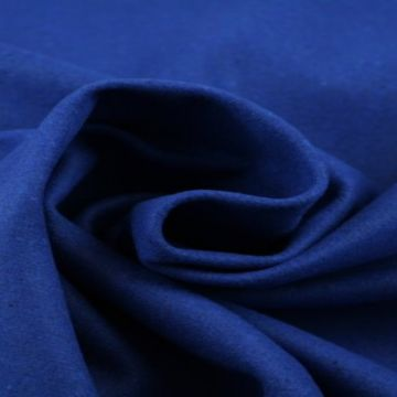 Kobalt blauw gemêleerde wol