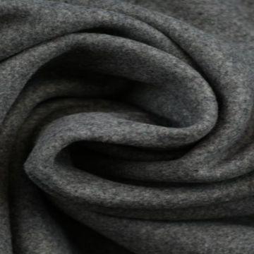 Donker grijze gemêleerde wol