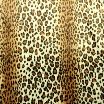 faux fur panter bruin wit