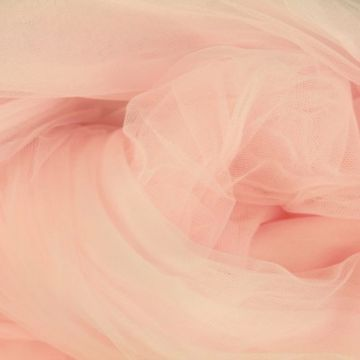 Stretch Tule - licht roze