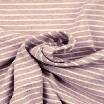 Soft Cotton Jersey - Light Mauve Striped Melange