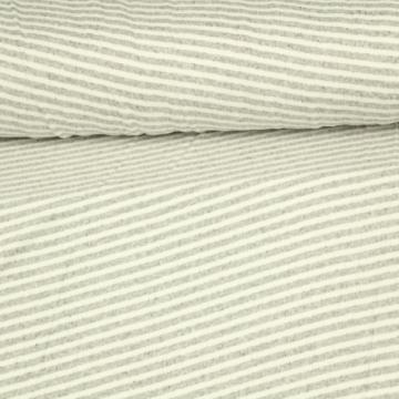 Soft Cotton Jersey - Light Grey Lines Melange