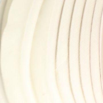 Paspelband gebroken wit katoen