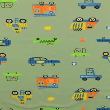 Happy Cars on Green