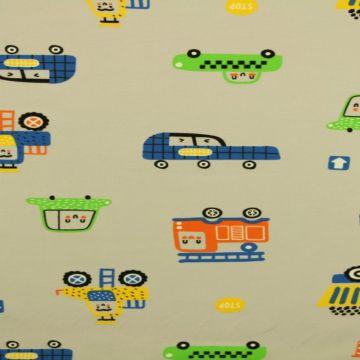 Happy Cars on Soft Grey
