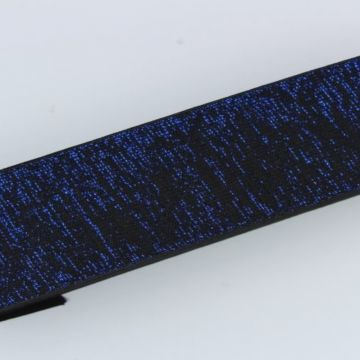 Elastiek Lurex - Zwart/Blauw