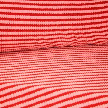 Terry Jersey - Black/White Stripes