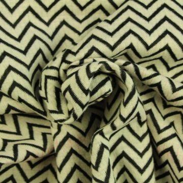 Jacquard Jersey - White/Navy Smal Zigzag