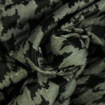 Jacquard Jersey - Black/Grey Pied de Poule