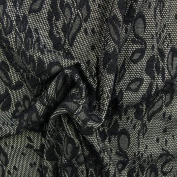 Jacquard Jersey - Navy Lace Roses