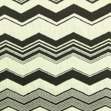 Jacquard Jersey - Black/White Electric Lines