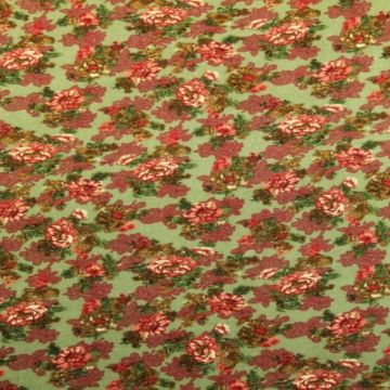 Vintage Flowers on Vintage Green
