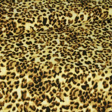 Katoenen Tricot - Brown Leopard