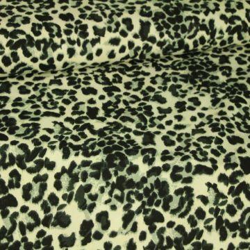 Katoenen Tricot - Grey Leopard