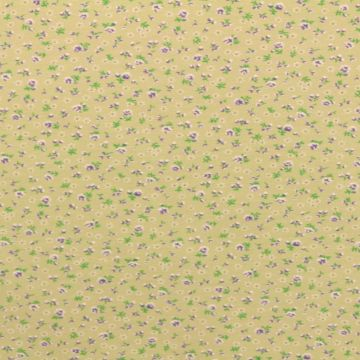 Katoenen Tricot - Little Flowers on Soft Taupe