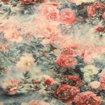 Grey/Cassis Flowers