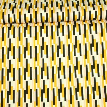 Katoen - Stenzo: Amazing Stripes Ocher