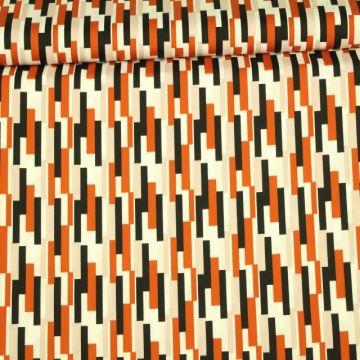 Katoen - Stenzo: Amazing Stripes Rusty
