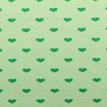 mint groene jogging met groene harten