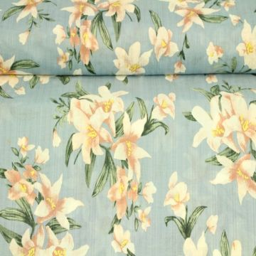 Cotton Viscose - Lilly on Iceblue