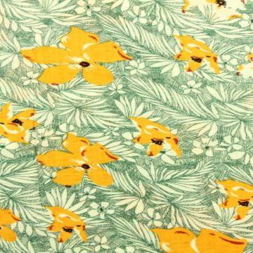Cotton Viscose - Tropical Flowers