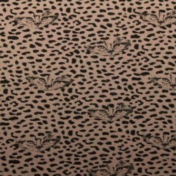 Donker roze sweat jersey met een katten print
