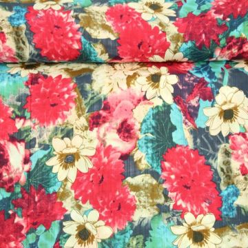 Cotton Viscose - Mexican Flower Field