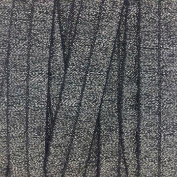Glitter vouwtres - Zilver/Zwart