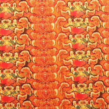 Lycra - Orange snake skin