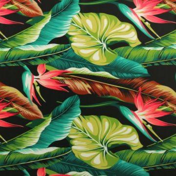 Lycra - Tropical Plants Green