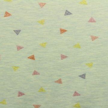 sweat jersey met gekleurde driehoeken
