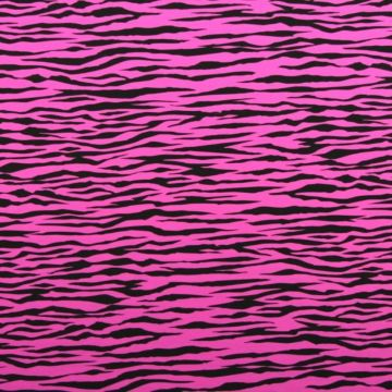 Lycra - Wild Stripes Pink