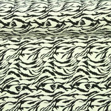 Lycra - Wild Stripes White
