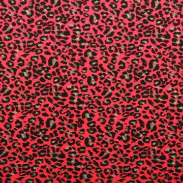 Lycra - Bright Red Panther