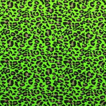 Lycra - Bright Green Panther