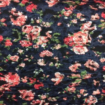 Embroidered Floral - Blue