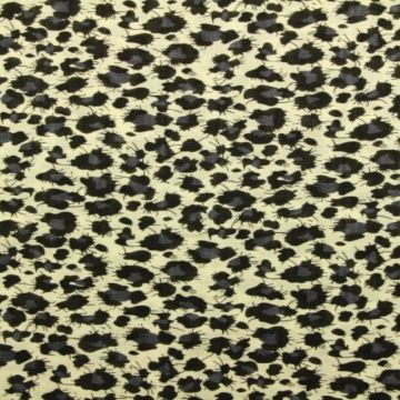 Cotton Viscose - Leopard Grey