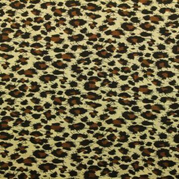 Cotton Viscose - Leopard Brown