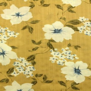 Cotton Viscose - Open Flowers