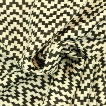 Jacquard Jersey - Cubes Zigzag