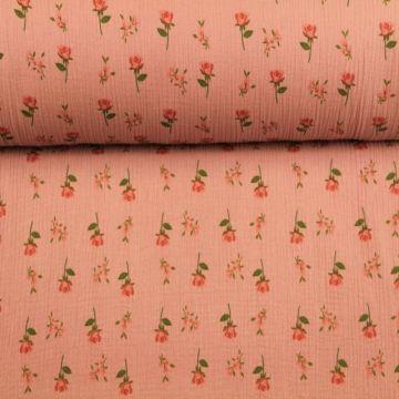Hydrofiel Stof - Roses Vintage Pink