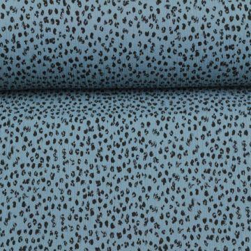 Hydrofiel Stof - Spots Steelblue