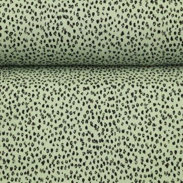 Hydrofiel Stof - Spots Vintage Green
