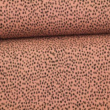 Hydrofiel Stof - Spots Vintage Pink