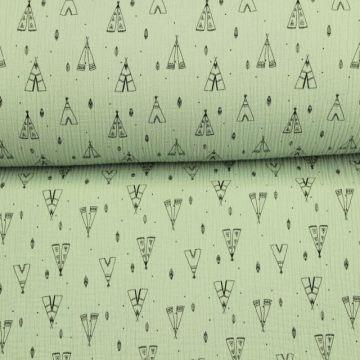 Hydrofiel Stof - Wigwam Vintage Green