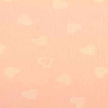 Hydrofiel Stof - Lovely Hearts Light pink